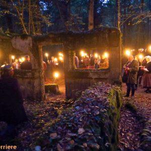 Visite aux flambeaux du Camp Marguerre