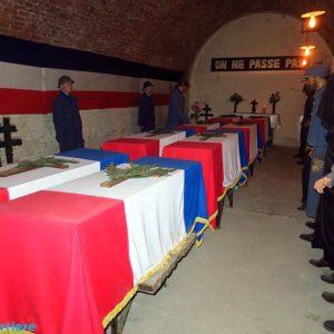 Reconstitution du choix du soldat inconnu à la Citadelle souterraine de Verdun