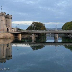 Verdun : La Meuse et la Porte Chaussée